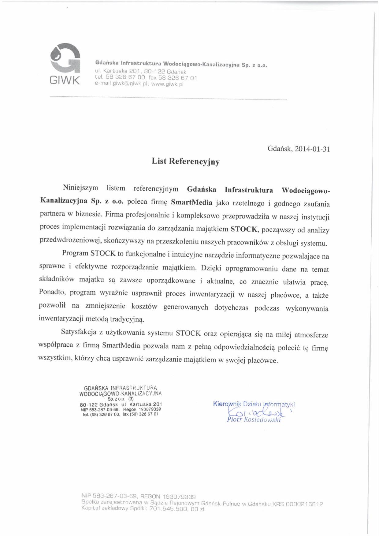 Gdańska Infrastruktura Wodociągowo-Kanalizacyjna