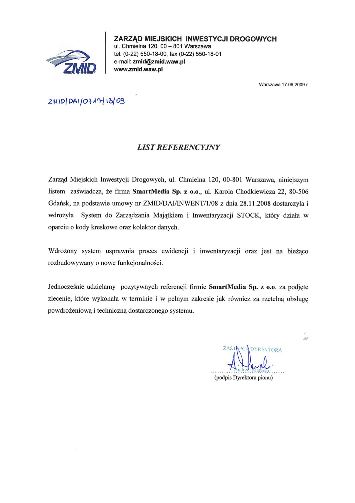 Zarząd Miejskich Inwestycji Drogowych w Warszawie