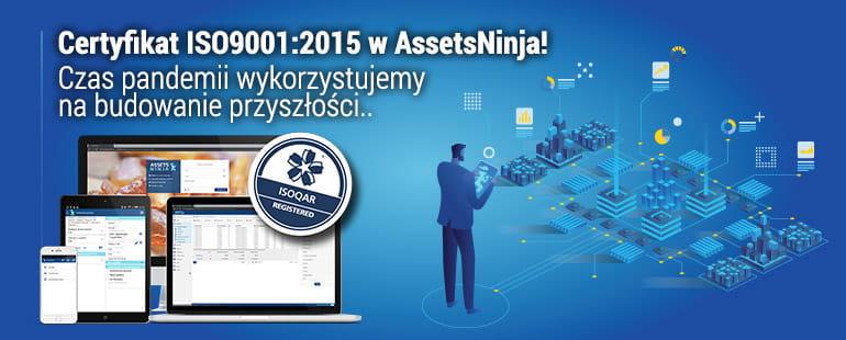 AssetsNinja ISO9001:2015 - Certyfikat Jakości - Header Blog Post